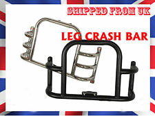 ROYAL ENFIELD SOLID AIRFLY STYLE FRONT CRASH BAR LEG GUARD CHROME & BLACK