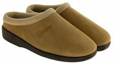 Mens Coolers Faux Suede Slippers Faux Fur Lined Comfort Slipper Size 7 8 9 10