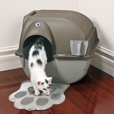 Self Cleaning Cat Litter Box Omega Paw Roll'N Clean™ Kitty Toilet M, L No Scoop