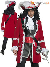 Adults Deluxe Authentic Pirate Costume Ladies Mens Captain Hook Fancy Dress Lady
