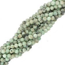 "Round Sesame Jasper Gemstone Stone Spacer Loose Beads 15"" Strand Jewelry Making"