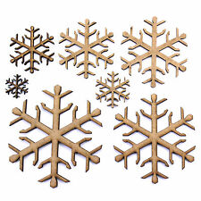Christmas Snowflake Craft Shape, Embellishments, Tags, Decorations. 2mm MDF Wood