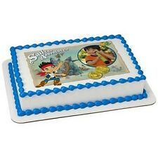 Jake & the Neverland  ~ Edible Photo Frame Cake Topper ~ Edible Image ~ D8278