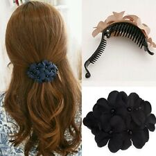 Hot Sexy Female Women's Crystal Flower Rhinestone Hair Pin Hairpin Clip Barrette
