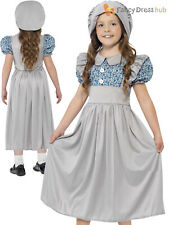 Girls Victorian School Girl Costume Child Book Week Day Fancy Dress Outfit Kids