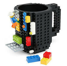 Build On Brick Mug Lego Type Building Blocks Coffee Cup Block Puzzle Mug