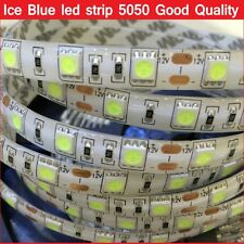 SMD5050 Led strip 5M Ice Blue color Flexible Waterproof led tape rope Light 12V