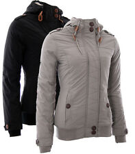 Sublevel Autumn Winter Jacket Quilted Bomber Fur Hood Thumb holes 261
