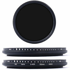 Variable Fader ND Filter ND2 ND4 ND8 to ND400 Neutral Density 52/58/67/72/77mm