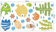 Ocean Fishes Sea Wall Decor Vinyl Sticker Decal Deco Removable Nursery Kids Art