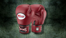 MUAY THAI KICK BOXING GLOVES TWINS SPECIAL MMA 8 10 12 14 16 18 OZ BGVL-3 MAROON