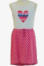 New Girls Summer Wave Zone Dress, Beach Dress, Pink and White, Sizes 1-7