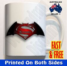 PERSONALISED Batman V Vs Superman Coffee Mug Cup ceramic unbreakable plastic