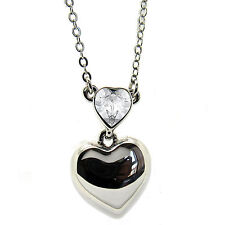 Clear Crystal  Heart Pendant Necklace made with SWAROVSKI® Crystals