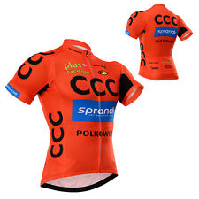 Cycling Short Sleeve Jersey Tops Bicycle Gear Fashion Mens Road Bike Team Wear