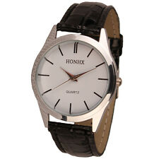 Casual Women's fashion Quartz Stainless Steel Analog Leather Strap Wrist Watch