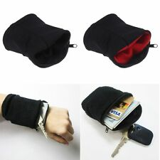 Unisex Wallet Wrist Band Pocket Sport Gym Key Coin Zipper Travel Running Money