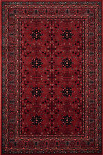 HIGH QUALITY Red Rust AFGHAN KHAN Nomadic Tribal Design Rug Runner Wool S-XXL