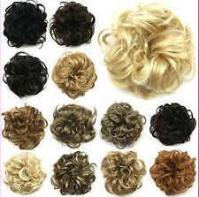 Hot Women's Girl Ladies New Pony Tail Hair Extension Bun Hairpiece Scrunchie 21