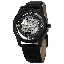 Stuhrling Original Men's Automatic Winchester Skeleton Leather Strap Watch. Free