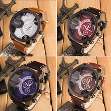Casual Cool Men's Date Stainless Steel Military Analog Sport Quartz Wrist Watch