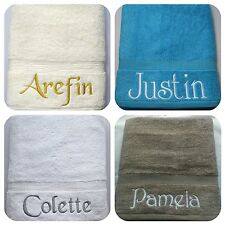Personalised Luxury Towels, hand/bath/sheet 600gsm, add any name/message