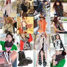 Fashion Women Girls Vintage Long Soft Chiffon Scarf Wrap Shawl Stole Scarves New