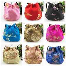 Wholesale Charming Chinese Handmade Silk Jewellery Pouchs Coin Purses