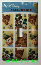 Art of Disney Friendship Stamps Light Switch Power Outlet Cover Plate Home decor