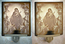 Virgin holding Baby Jesus (Christ) w/Angels Porcelain Lithophane Night Light