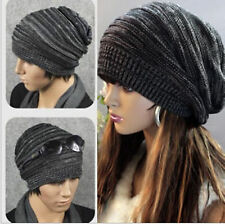 New Unisex Womens Mens Knitted Baggy Beanie Hat Winter Warm Oversized Ski Cap 80