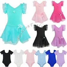 Girls Camisole Gymnastics Leotard Toddler Kid Child Ballet Dance wear Size 3-12