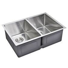 Water Creation Double Bowl Stainless Steel Hand Made Undermount Kitchen Sink. Br