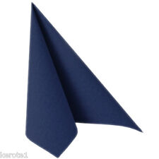 50 Napkins Royal Collection Navy Blue 40x40cm Linen Feel Airlaid