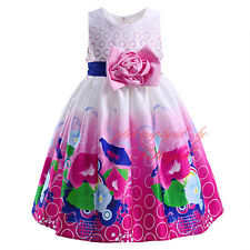 Baby Girl Summer Flower Dress Communion Wedding Birthday Pageant Recital Holiday