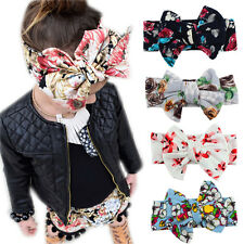 Infant Toddle Baby Turban Floral Headband Girls Bow Knot Hairband Kids Head Wrap