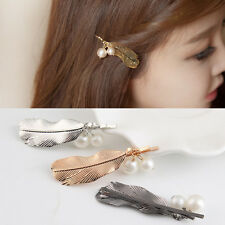 Retro Metal Feather Hair Clips Girls Bobby Pins Women Hair Accessories Hairpins