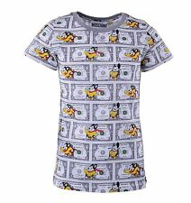 MOSCHINO COUTURE Mighty Mouse T-Shirt with Dollar Print White Grey Cotton 04460