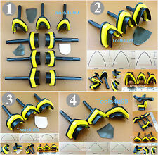 4 Kinds Leather Craft English Point V-point Round Belt Strap End Punch Tool Set