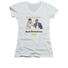PSYCH TAKE OUT Officially Licensed Women's Junior V-Neck Tee Shirt SM-2XL