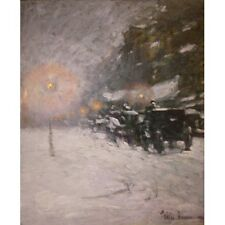 Childe Hassam Winter Midnight 1894 Classic Art Vintage-Style Poster