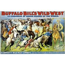 Buffalo Bill's Wild West & Congress of Rough Riders Circus Vintage-Style Poster