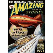 Vintage-Style Sci Fi Poster Amazing Stories Liners Of Space Cover Art