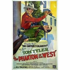 Phantom of the West #6 Canyon of Calamity 1931 Movie Serial Vintage-Style Poster
