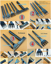 4 Kinds Leather Craft Diamond Angled Pro Line Lacing Chisel Pricking Iron Punch