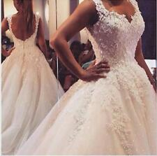 Sweetheart Lace Wedding dresses White/Ivory A-line Lace Bridal Gowns custom size