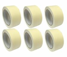 6 x Easy Tear White Masking Tape Painting Paint Scotch Tape Rolls