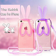 Soft Silicone Cute Rabbit Bunny Skins Cases Covers For Apple iPhone 5 S 6 6Plus
