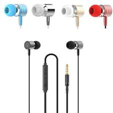 New Metal Universal 3.5mm In-Ear Stereo Earbuds Earphone With Mic For Cell Phone