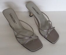 Sam & Libby Shoes Sandals Heels Silver Size 9M Strappy